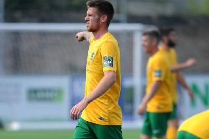 Horsham striker Rob O'Toole netted in their 3-1 victory at VCD Athletic. Picture by Steve Robards