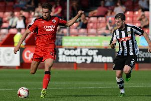Alex Davey during his loan spell at Crawley Town