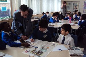 Bucks Herald reporter Neil Shefferd visits St Edward's Catholic Junior School in Aylesbury