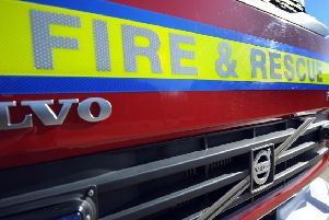 Fire crews from Worthing were sent to the fire in Storrington