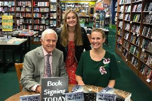 Author James London, proof-reader Annabel Wright, and James' granddaughter Winifred