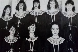 Members of the Seven Towers School of Dancing, Ballymena, who won a recent Team Dance Championship. 1989.