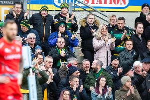 Smiles are back on faces at Franklin's Gardens (picture: Kirsty Edmonds)