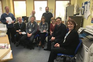 Jeremy Quin joined volunteers and full time support staff at Citizens Advice in Horsham