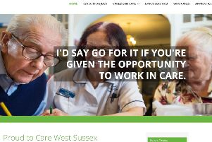 Proud to Care website West Sussex