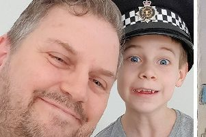 James Glass with PC Mike Harvey