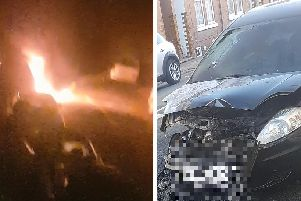 The fire last night torched two cars on Stanhope Road.