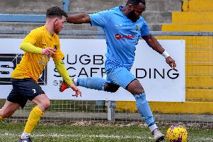 On Saturday Rugby Town will be without Dom Perkins, who is starting a two-match ban for reaching ten bookings in league competitions