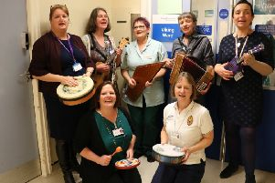 Live music is being played to patients at Crawley Hospital