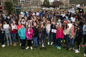 Royal Latin students protest against climate inaction
