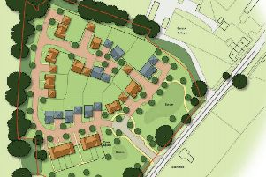 Layout of 20 new homes in Shermanbury