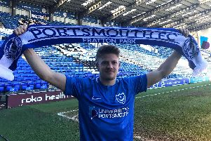 Lloyd Isgrove may finally be glimpsed in Pompey colours at Shrewsbury on Saturday. Picture: Dan Smith/Portsmouth FC