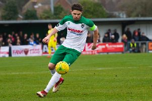 Harvey Whyte couldn't save Bognor from a home defeat to Leatherhead
