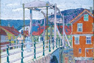 Harold Gilman Canal Bridge, Flekkefjord, c.1913, oil on canvas � Tate London, SUS-190325-105814001