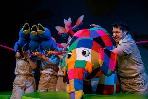 Elmer The Patchwork Elephant is at Worthing's Connaught Theatre