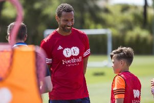 Rio Ferdinand coaching the youngsters