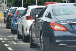 The collision is causing delays in the area