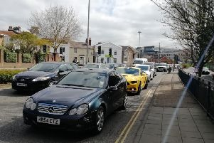 Traffic chaos in Horsham