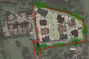 Layout of proposed homes in Amberley