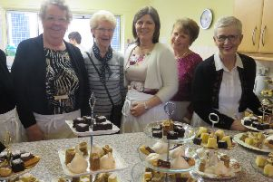 Visitors were treated to a range of cakes and other edible delights