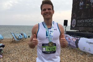 Adam Hinds completed Brighton Marathon despite being a 'terrible runner'