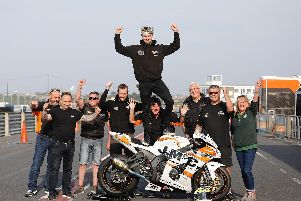 Carl Phillips won both Ulster Superbike races at Kirkistown in Co. Down on Easter Monday to secure the 'King of Kirkistown' title for the first time. Picture: Gavan Caldwell.