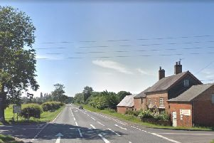 The junction with Longdown Lane and Woolscott Road on the A45. Photo by Google Street View.
