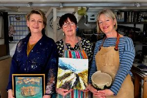 Carol Wagstaff left, Eve Chalcraft centre and Jenny Wightwick