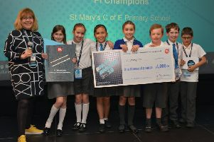The St Mary's team collecting their prize