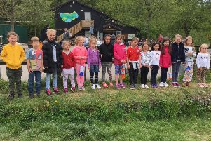 The pupils walked three miles to raise funds