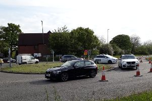 The Broadbridge Heath bypass has been closed causing traffic chaos SUS-190514-095307001
