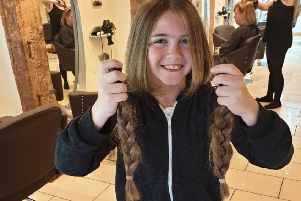 Keely Lawson from Pulborough has donated her hair to The Little Princess Trust SUS-191206-115359001