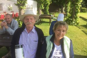 Mike and Jill Vincent from West Chiltington Probus Club who won a trophy during the Inter Probus Croquet Day SUS-191206-133516001
