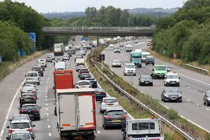 File image of traffic on the M23 near Gatwick. Photo by Derek Martin