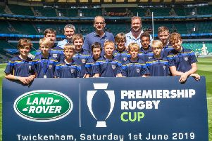 Worthing Rugby Club's under-11 and under-12 players rubbed shoulders with England World Cup winning captain Martin Johnson at Twickenham