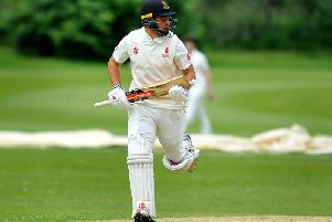 Tom Haines hit 95 for Horsham in their rain-affected draw with Three Bridges in the Premier Division on Saturday. All pictures by Steve Robards