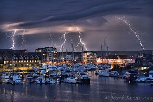 Lightning over Eastbourne - photo by Mark Jarvis SUS-190619-083427001