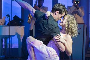 Kira Malou (Baby) and Michael O'Reilly (Johnny) in Dirty Dancing. Picture by Alastair Muir