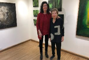 Minne Fry with Sharon Newton (curator)