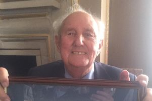 Tony French MBE pictured at the Council House in North Street following the presentation of the Freedom Scroll.