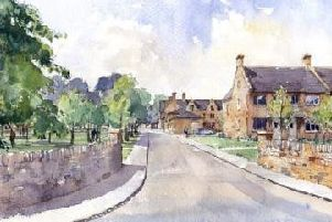 A sketch outlining how the new development of Overstone Farm will look