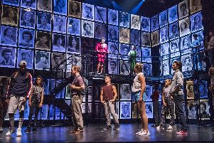 A scene from Fame The Musical, Mica Paris looks down on her students. Picture by Tristram Kenton