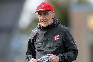 Tyrone manager Mickey Harte made a public apology after his players were filmed singing the pro-IRA songs on the team bus. INPHO/Bryan Keane