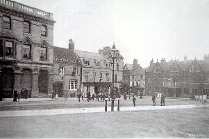 Pre-pedestrianisation: The Hind Hotel can be seen on the right of the picture