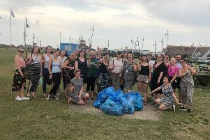 Store managers from across the region gathered on Littlehampton beach for The Bodyshop South Beach Clean Up