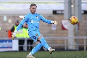 David Cornell returns home this evening. The Cobblers goalkeeper progressed through the youth ranks at Swansea City. Picture: Pete Norton