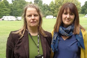 Councillors Louise Potter and Ruth Fletcher visited Horsham Park