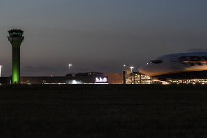 MBLN Airport at twilight. Photo by London Luton Airport