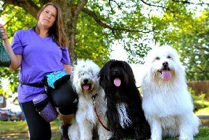 Jo Loft from Horsham is frustrated about dog owners that don't pick up their dog's poo. Pic Steve Robards SR1921359 SUS-190827-092333001