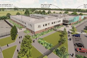 New Bohunt School planned at North Horsham development - main teaching block south west view